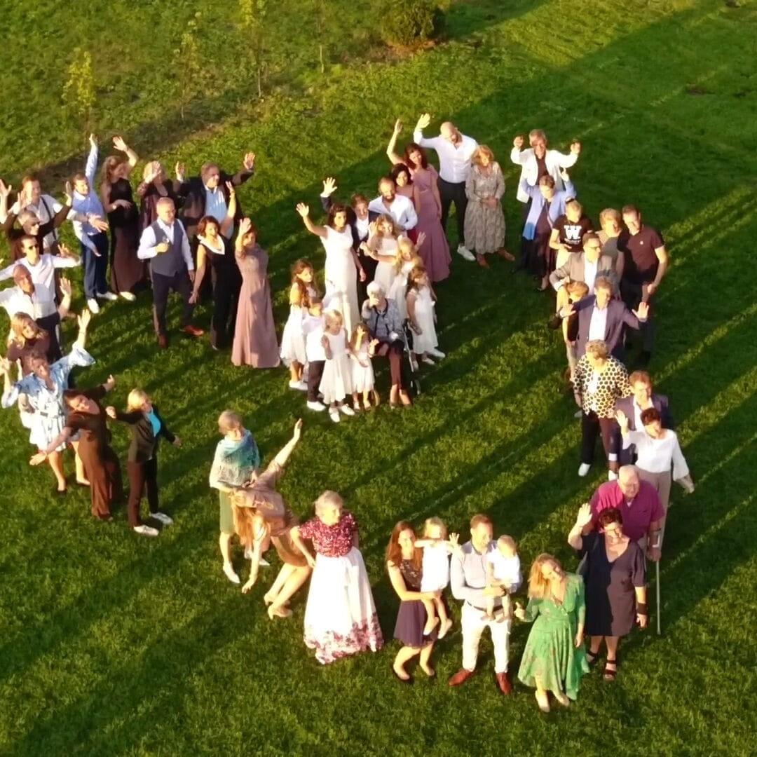 Bruiloft videograaf drone